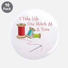 """One Stitch at a Time 3.5"""" Button (10 pack)"""