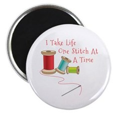 One Stitch at a Time Magnets