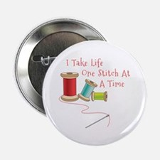 "One Stitch at a Time 2.25"" Button"