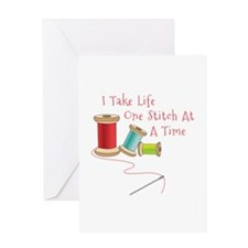 One Stitch at a Time Greeting Cards