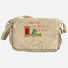 One Stitch at a Time Messenger Bag