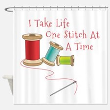One Stitch at a Time Shower Curtain