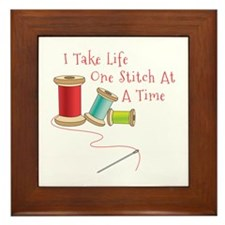 One Stitch at a Time Framed Tile