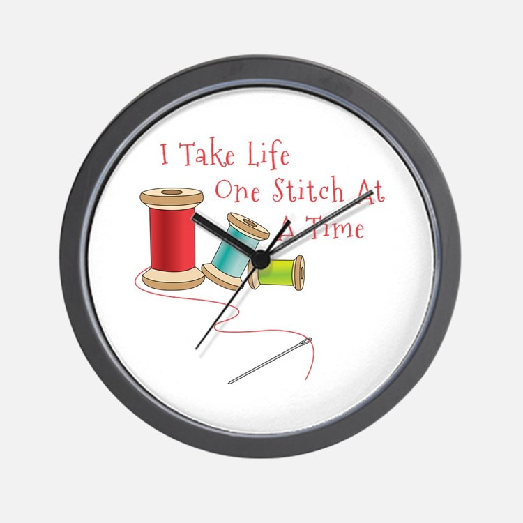 One Stitch at a Time Wall Clock