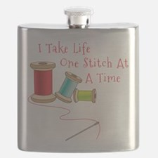 One Stitch at a Time Flask