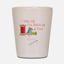 One Stitch at a Time Shot Glass