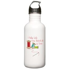 One Stitch at a Time Water Bottle