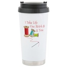 One Stitch at a Time Travel Mug