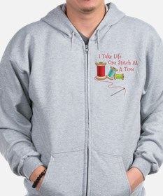 One Stitch at a Time Zip Hoodie