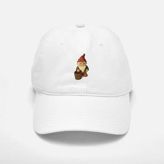 Retro Lawn Gnome Baseball Baseball Cap
