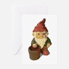 Retro Lawn Gnome Greeting Cards (Pk of 10)