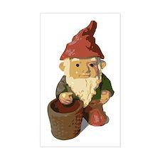 Retro Lawn Gnome Rectangle Decal