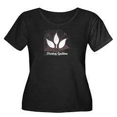 Nursing Goddess Plus Size Scoop Neck Black T-Shirt