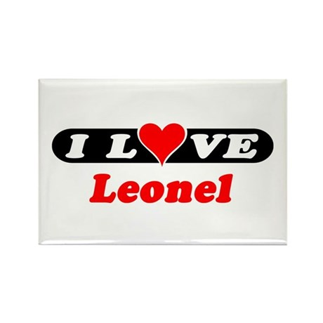 I Love Leonel Rectangle Magnet (100 pack)