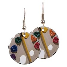 Palette and paintbrush Earring