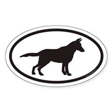 German Shepherd Euro Oval Bumper Decal