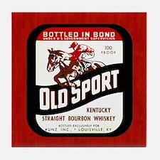 Old Label Whiskey Tile Coaster