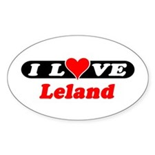 I Love Leland Oval Decal