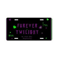 Forever Twilight Aluminum License Plate