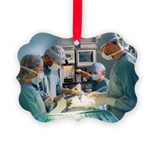 Surgical team performing operatio Ornament