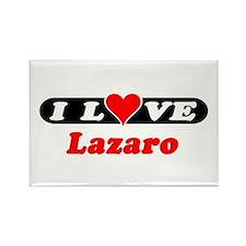 I Love Lazaro Rectangle Magnet