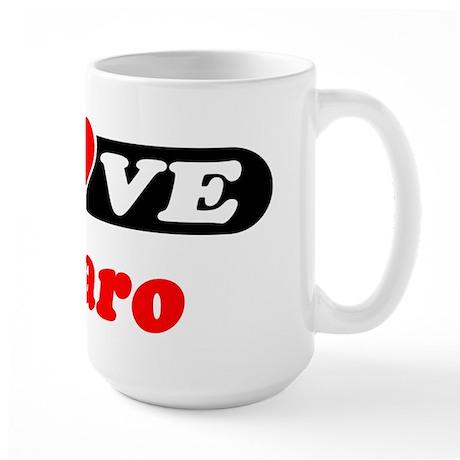 I Love Lazaro Large Mug