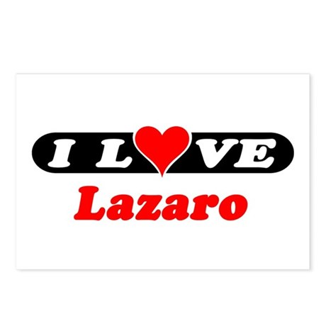 I Love Lazaro Postcards (Package of 8)