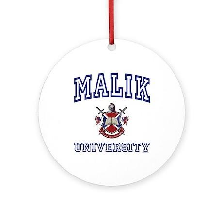 MALIK University Ornament (Round)