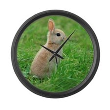 A rabbit standing Large Wall Clock