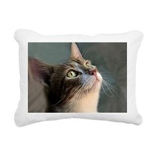 Cat waiting for dinner. Rectangular Canvas Pillow
