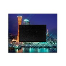 Night View Of Kobe Port, Kobe, Hyogo Picture Frame
