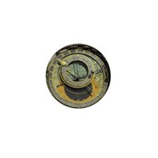 Prague Astronomical Clock Mini Button