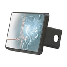 Medical caduceus symbol an Rectangular Hitch Cover