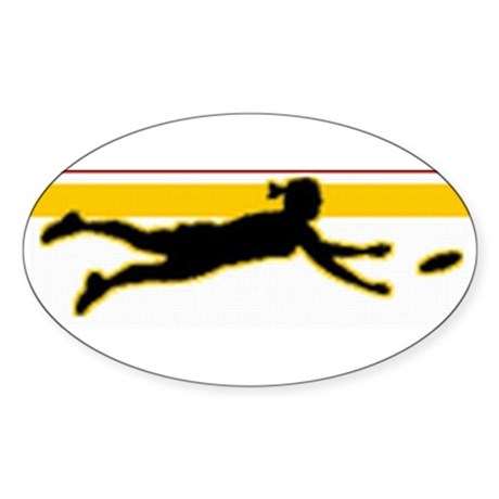 Layout Chick Oval Sticker