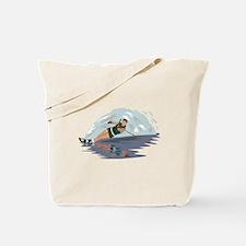Water Skiing Tote Bag