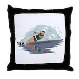 Waterski Throw Pillows