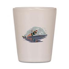 Water Skiing Shot Glass