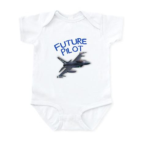 future pilot (F-16) Infant Bodysuit