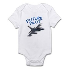 future pilot (F-16) Infant Bodysuit