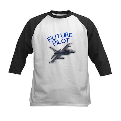 future pilot (F-16) Kids Baseball Jersey