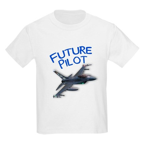 future pilot (F-16) Kids Light T-Shirt