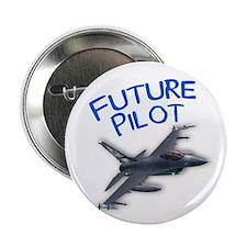 """future pilot (F-16) 2.25"""" Button"""