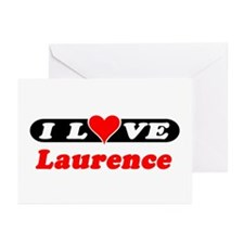 I Love Laurence Greeting Cards (Pk of 10)