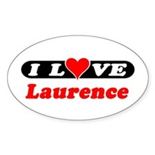 I Love Laurence Oval Decal