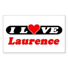 I Love Laurence Rectangle Decal