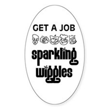 Sparkling Wiggles Oval Decal