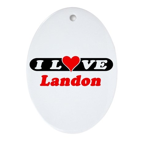 I Love Landon Oval Ornament