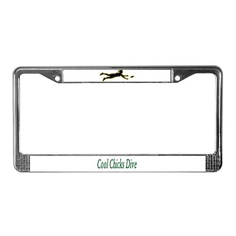Diving Diva License Plate Frame