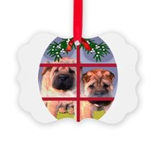Shar pei Puppy Christmas Ornament
