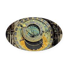 Prague Astronomy Clock Oval Car Magnet